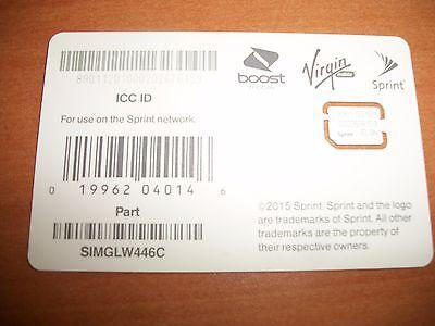SPRINT BOOST VIRGIN SIM CARD GOOGLE PIXEL HTC M9 MOTO NEXUS6 LG 5X G5 SIMGLW446C