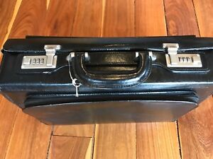 Bugatti Leather Office/Laptop Case with Combination Lock & Key