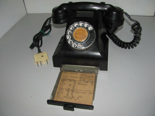 Vintage Black Bakelite PMG Rotary Dial Telephone Tested & Working As Shown