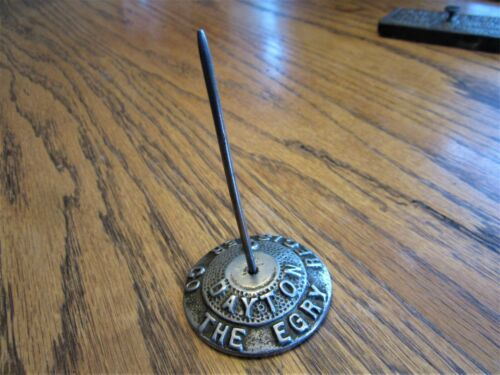 The EGRY Register Co. Cast Iron Receipt Holder Victorian Advertising Bill Spike