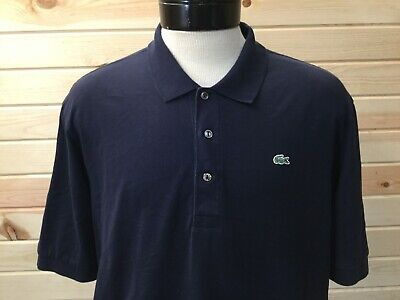 Lacoste Polo Shirt Mens Size 7 XXL 2XL Navy Blue