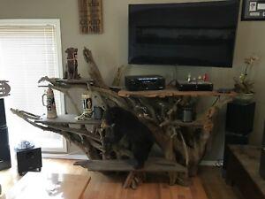 Unique tv stand.