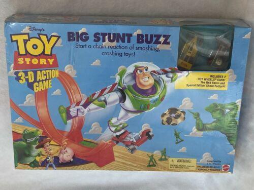 TOY STORY 3-D ACTION GAME BIG STUNT BUZZ 2 HOT WHEELS CARS MATTEL DISNEY NIB NEW