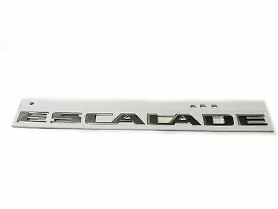 2002-2014 Cadillac Escalade Liftgate Nameplate Emblem Chrome New OEM 15162184
