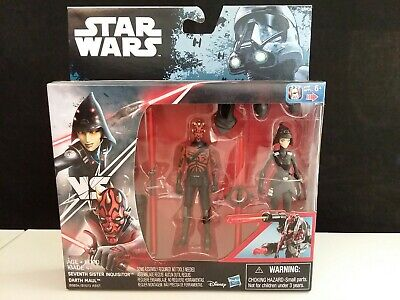 Inquisitor Star Wars Rebels (Star Wars Rebels Darth Maul VS Seventh Sister Inquisitor 2 Pack 3.75 New Sealed)