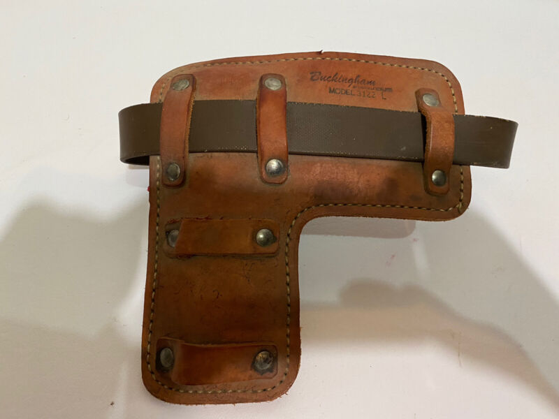One Buckingham Pad For Climbing Spikes 3122 L LEFT ONLY  Belt Rust Need Replaced