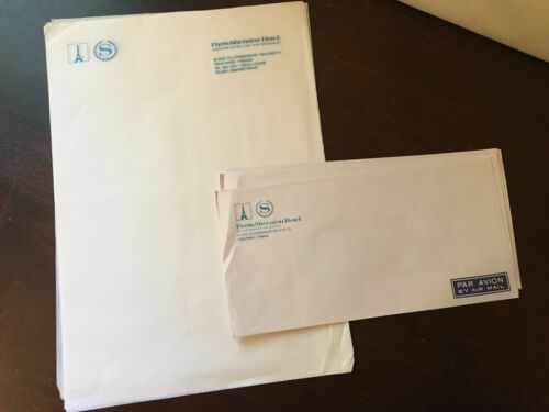 Paris Sheraton Hotel, Vintage Stationary Lot, Unused, Letter sheets & Envelopes