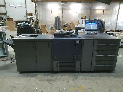 Konica Minolta Bizhub Press C1070 70ppm Color Copier Printer Wfinisher Fiery