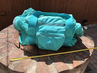 Kipling Luggage/ Holdall/ Large Bag Aqua Blue/ Green
