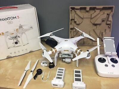 DJI Phantom 3 Professional Drone + Extra Battery, 4K Camera, 3 axis gimbal