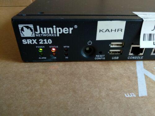 Juniper Networks SRX-210 Secure Services Gateway VPN Firewall
