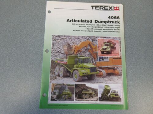 Terex 4066 Articulated Dump Truck Literature