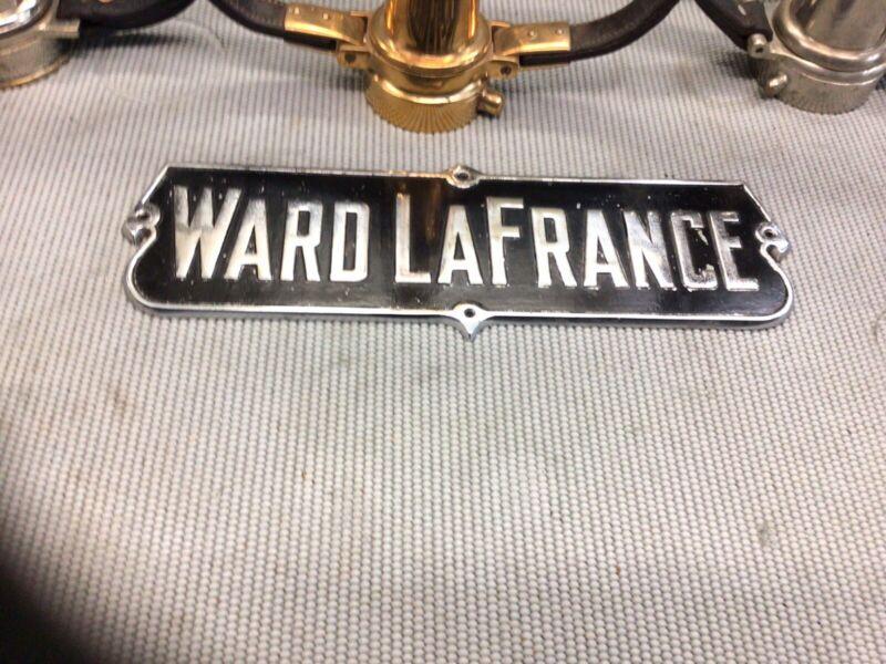Vintage( WARD LAFRANCE  ) CHROME  fire engine  Emblem 16 In. X 5 In.