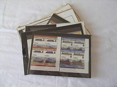 Railways - Small collection of mint thematic stamps. See photos in listing.