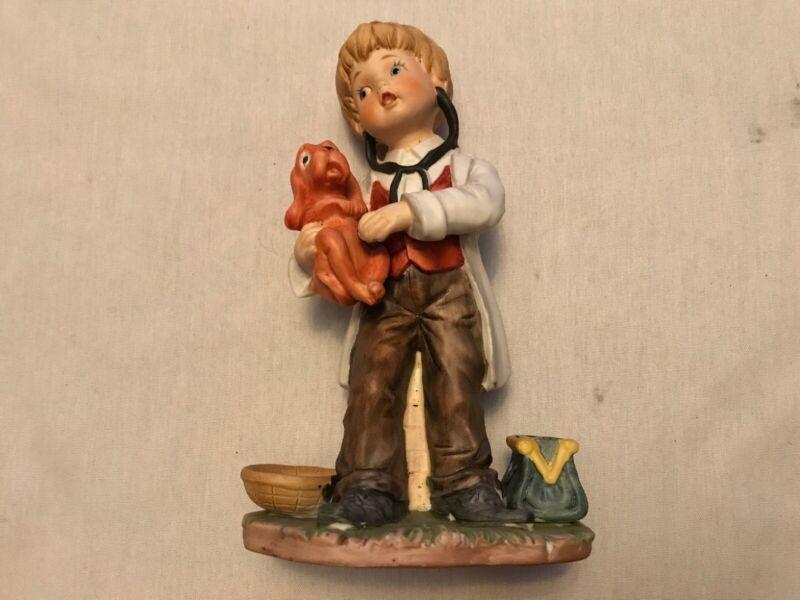 Child Veterinarian Ceramic Statue