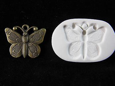 Butterfly w/ Fish Wings Polymer Clay Mold (#MD1237)