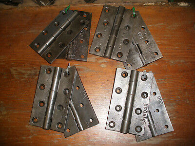 Vintage Victorian / Edwardian cast iron door hinges 4