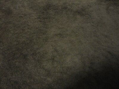 "Offcut dark brown thin soft suede - 9"" x 4""   - craft patch paws BR062"