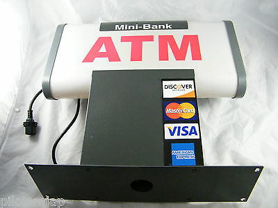 Mini-bank 1000 Atm Lighted Sign Topper