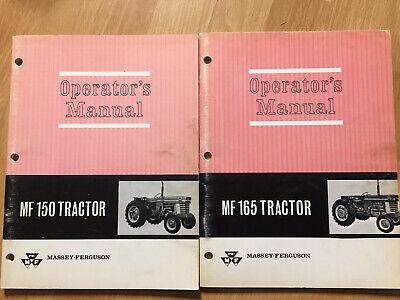 2 Massey Ferguson Mf 150 Mf 165 Tractor Factory Operators Manuals Oem