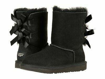 UGG KIDS GIRLS BAILEY BOW II BOOTS BLACK  WATER RESISTANT 1017394K*NIB*](Bailey Bow Kids Uggs)