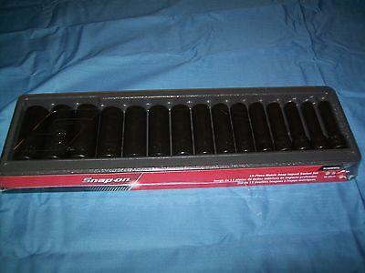 "NEW Snapon™ 1/2"" drive 10 to 24 mm 6-point DEEP Impact Socket Set 315SIMMYA"