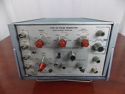 Tektronix Type 115 Pulse Generator W Calibrated Sticker