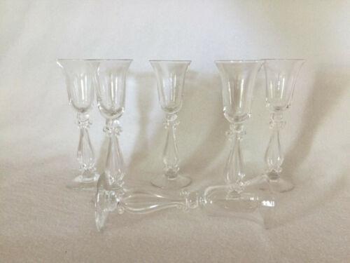 6 Cambridge Glass Regency Stradivari Crystal Cordial Goblets