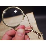 Vintage Antique Style Brass Magnifying glass Hand Lens