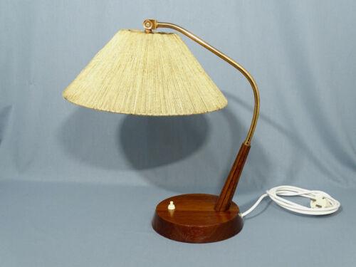 Temde Copper Raffia Bast Table Lamp Midcentury Modernism