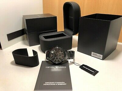 Brand New In Box Emporio Armani AR2453 Black Dial Chronograph Men Classic Watch
