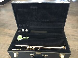 Conn vintage 1 intermediate trumpet and accessories and case