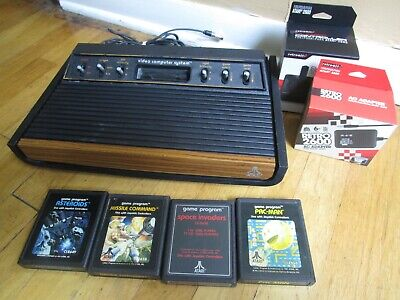 Atari 2600 Sunnyvale MADE IN USA Working Heavy Sixer Console Ready to Play!