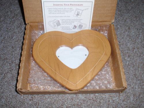 "Longaberger WOODCRAFT ""PHOTO LID"" FOR 2000 SWEETHEART LITTLE LOVE BASKET, NEW!!!"