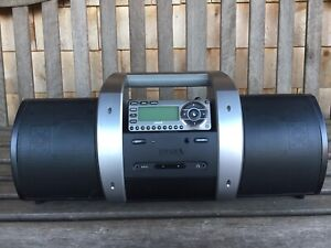 Sirius radio and portable boombox with antenna