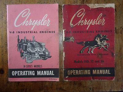 Chrysler V-8 Industrial Engines Manual - Lot Of 2
