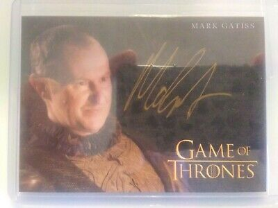2019 Game of Thrones Inflexions Gold Mark Gatiss as Tycho Nestoris Auto 1s8