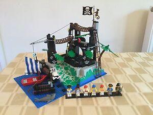 Lego Pirates 6273 Rock Island Refuge 100%Complete+Instruction Vintage Rare