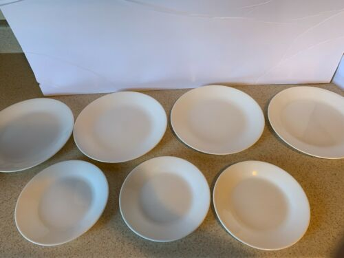 Corelle Winter Frost White LOT of 7 - 4 Salad Plates and 3 Bread Plates