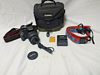 Canon EOS Rebel XS 10.1MP DSLR Camera W/EF-S 18-55mm F/3.5-5/.6 IS Zoom Lens Kit