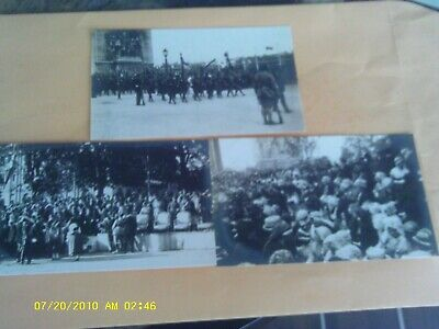 RARE 3 THREE GROUP LOT 1919 RPPC FRANCE COSTUME & SOLDIER PARADE WAR CELEBRATION - 3 Group Costumes