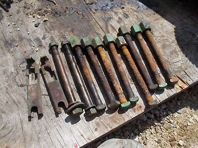 John Deere Mt Tractor 10 Axle Mount Bolts 8 Special Jd Nuts 2 Brackets