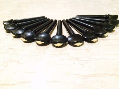Ebony Swiss Tuning Pegs Gold Grade Master 100 Piece Pack for Violin,Viola,Oud