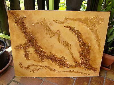 Original Gemälde *Insieme v. bebo *Acryl abstrakt erdfarben gold schlicht modern