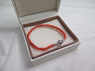 New Pandora Orange Large Multi Cord Charm Bracelet 590715COEM M3 Halloween