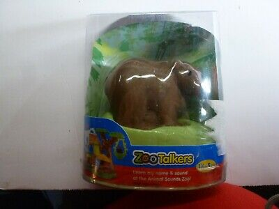 Fisher Price Little People Zoo Talkers Brown Bear Figure New