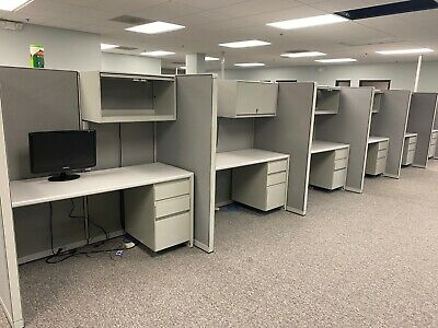 5 X 3 X 65h Telemarketing Call Center Cubicle By Steelcase 9000