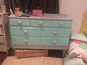 Chest of drawers painted blue turquoise Lilyfield Leichhardt Area Preview