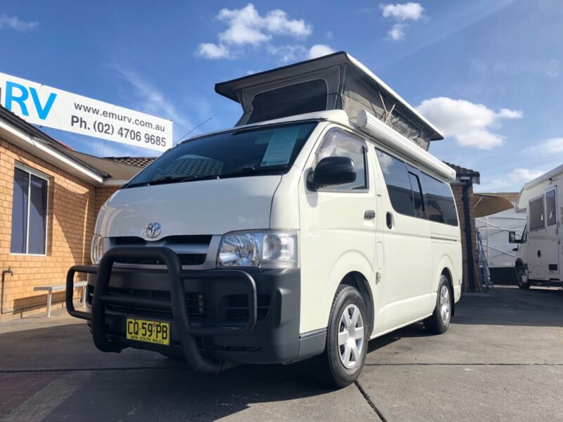 fc38fa1ce5 Frontline Toyota Hiace Campervan. Auto - Dual fuel - Low Kms ...