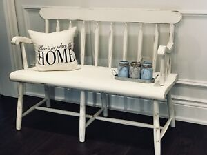 Rustic Shabby Chic Farmhouse Hall Entry~ Mudroom Deacons Bench